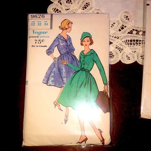 1958 Vogue sewing pattern - vintage size 12 EUC
